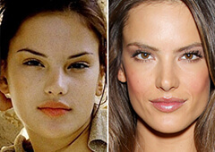 Alessandra Ambrosio Before and After